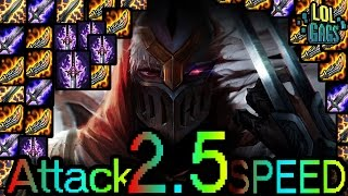 2.5 Attack SPEED Zed Montage (LoL Gags)