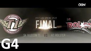 SKT vs KT Game 4 Highlights 2017 LCK SPRING SPLIT FINAL