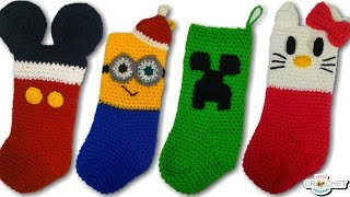 CROCHET: Character Christmas Stockings Vlog & Free Patterns!