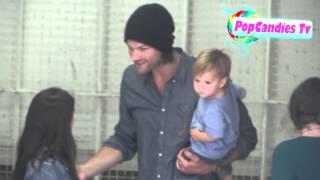 Jared Padalecki with Geneviev & Thomas