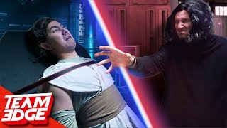 Try Not to Laugh!   Remaking Intense Star Wars Scenes!!