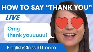 How to Say Thank You in English - Basic English Phrases