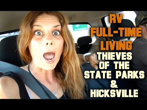RV FULL-TIME LIVING STATE PARK THIEVES & DUMPING IN HICKSVILLE