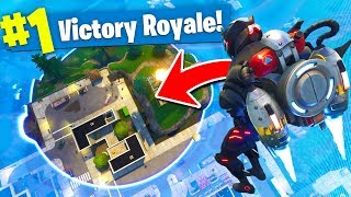 *MAX* HEIGHT JETPACK Trolling In Fortnite Battle Royale!