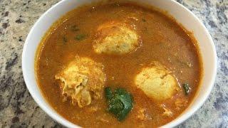 Egg Kuzhambu / Muttai Kuzhambu - Indian Samayal
