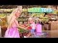Play Barbie Doll Supermarket Shopping Toys with Baby Doll! 🎀