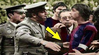 إعتقال يوهان كرويف بعد أن سجل هدفين  على ريال مدريد.. شاهد الحقيقة!!