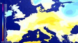 Temperature forecast Europe 2017-01-31