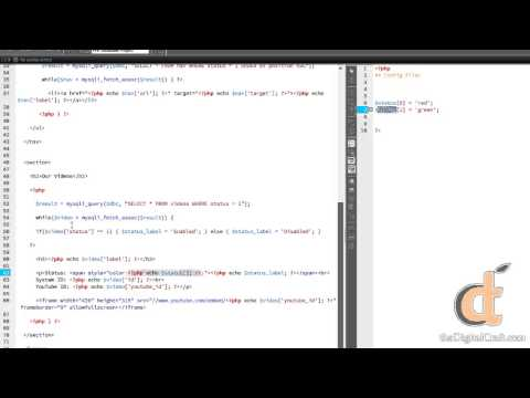 PHP Databases 2 - Project 11 - Dynamic Video Player