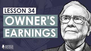 34. Warren Bufett's Owner's Earnings Calculation