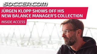 Jurgen Klopp shows off his New Balance Manager's Collection