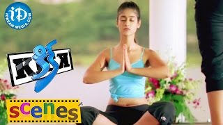 Kick Movie Scenes - Ileana Yoga Introduction Scene || Ravi Teja