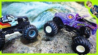 Monster Trucks for Children - River Jungle Adventure