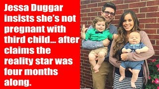 Jessa Duggar insists she's not pregnant with third child… after claims the reality star was four mo