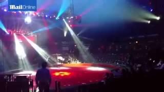 shocking moment acrobat falls during circus performance