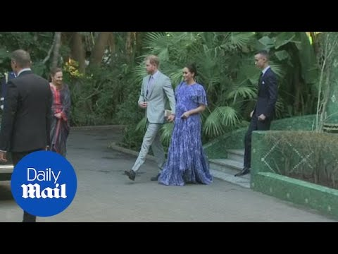 Prince Harry and Meghan meet King Mohammed VI of Morocco