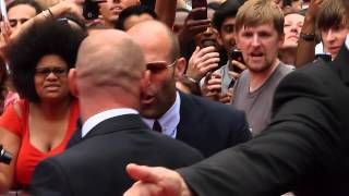 Jason Statham Signing at The Expandables 3 Premiere in London 4th August 2014