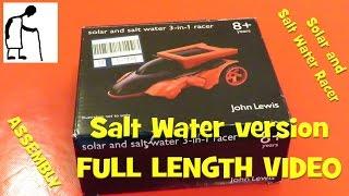 Solar and Salt Water Racer   Salt Water version FULL VIDEO