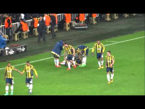 Mehmet Topalın Braga'ya attığı gol (Tribün Çekim)