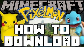 Minecraft Pixelmon - How To Download & Play!