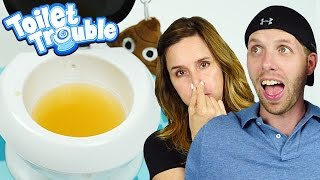 Drinking from the Toilet! Hasbro Gaming Toilet Trouble DCTC Toy Challenges