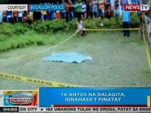 BP: 16-anyos na dalagita, ginahasa't pinatay sa Pangasinan