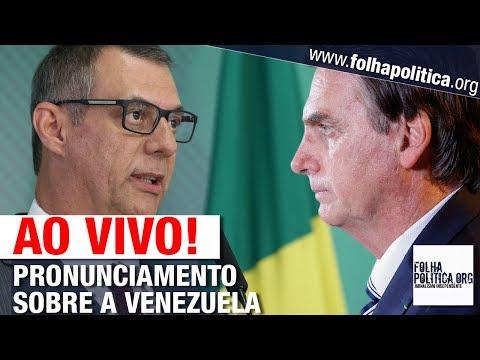 Xxx Mp4 AO VIVO PRONUNCIAMENTO DO GOVERNO BOLSONARO SOBRE TENSÃO COM A VENEZUELA GENERAL RÊGO BARROS 3gp Sex