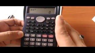 برمجة يدوية للحاسبة كاسيو  FX 82MS وحل المعادلات الخطية في مجهولين والمعادلة التربيعية في مجهول