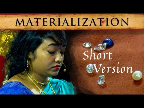 Demonstration of Superpower by Disciple of Nithyananda:Materialization of Diamonds and Pearls(short)