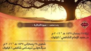 """رعد محمد الكردي - سورة الجاثية ,, ليلة ٢٨ رمضـان ١٤٣٧ ھـ """" ٢٠١٦ م .."""