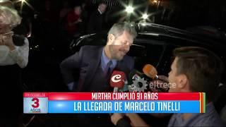 Marcelo Tinelli  dio una primicia sobre la presentación de Bailando 2018 en el cumpleaños de Mirtha