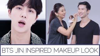 BTS Jin Inspired Makeup Look