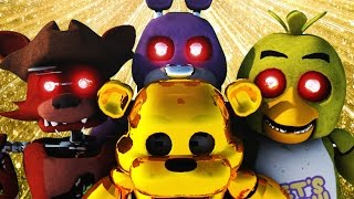 """♫ """"JUST GOLD"""" [Minecraft Animation] Five Nights At Freddy's FNAF Music"""