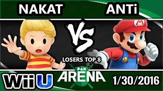 PAX - CLG | Nakat (Ness, Lucas) Vs. DM. #THE | ANTi (Mario, Rosa)  L. Top 8 - Smash Wii U - Smash 4