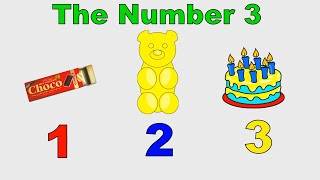 Numbers Learning for Toddlers - Counting 123 -  Count to 3