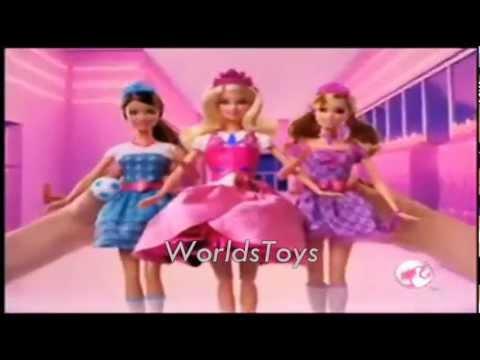 2011 º BR BARBIE™ Princess Charm School Blair Escola de Princesas Dolls Commercial
