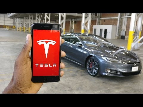Tesla Model S P100D The App