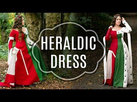 Making a Medieval Heraldic Dress Extra Long Vid
