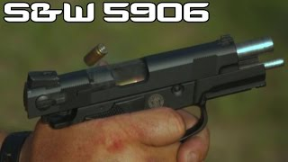 S&W 5906 Mexican Special Forces Pistol & 9MM Incendiary ammo! (4K SUPER SLOW MO)