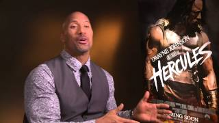 The Rock on bulking up for Hercules