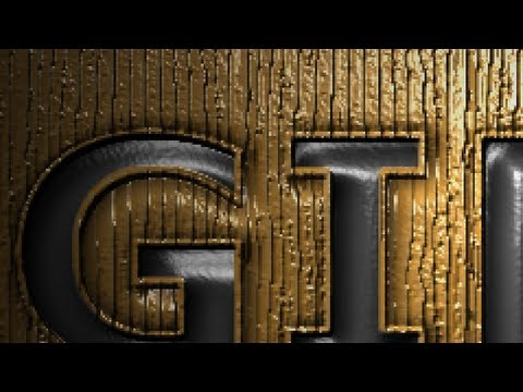 GIMP 2.8 Tutorial Pressed Text