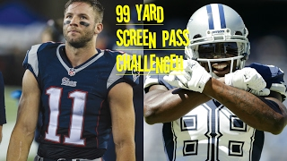 JULIAN EDELMAN VS DEZ BRYANT!! WHO CAN GET A 99YD SCREEN PASS FIRST?!? HIS ANKLES!!