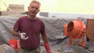 DIY Concrete with Harbor Freight Cement Mixer 67536 61932