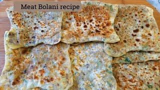 Appetizers recipe Bolani Goshty ,Afghani Bolani,Parata Recipe,Afghan Cuisine بولانی گوشتی افغانی