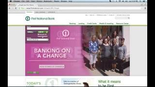 First National Bank Online Banking Login Instructions