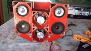 mini Paredão TREME TREME: instalação dos alto falantes