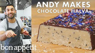 Andy Makes Salted Chocolate Halva | From the Test Kitchen | Bon Appétit