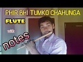 PHIR BHI TUMKO CHAHUNGA on FLUTE (with notes)