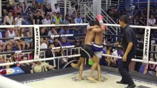 Yee (Sinbi Muay Thai- Red corner) fights at Bangla Stadium- 28.4.2017