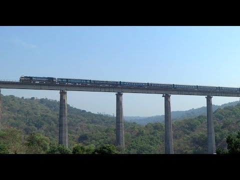Xxx Mp4 TRAINS ON TALLEST BRIDGE Panval Viaduct Konkan Railway TVC Rajdhani Express Netravati Express 3gp Sex